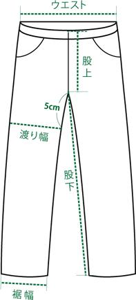 ボトムのサイズの測り方