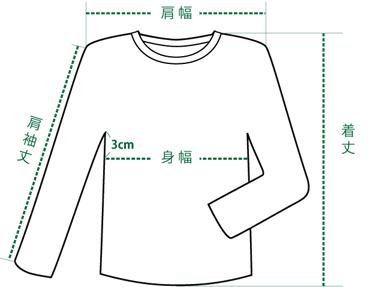 トップスのサイズの測り方