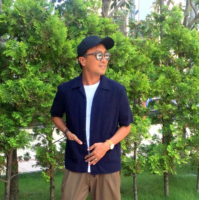 ジャケット感覚で羽織れる開襟シャツ!