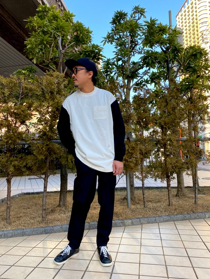 VORTEX Crew Neck XL-Tee の着こなし