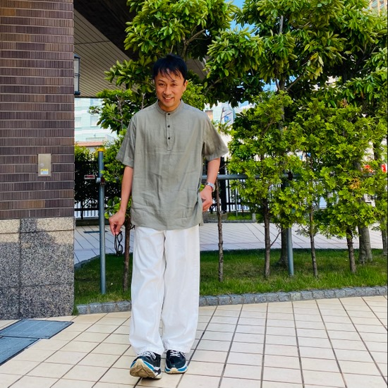 Stretch Linen Pullover Shirts