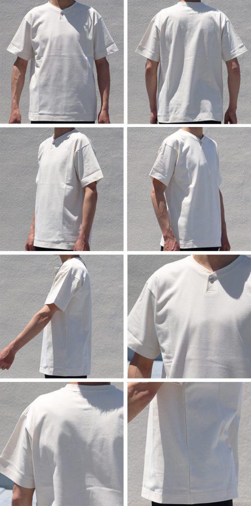 VORTEX 8oz Concho Button Henley Neck S/S T-shirts